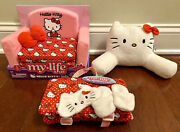 """My Life As Hello Kitty Fold-out Sleeper Sofa Couch Sleeping Bag Pillow 18"""" Doll"""