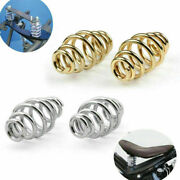 3.4 Solo Gold Seat Spring + Bracket Mounting Hardware Kit Fit For Chopper Ca