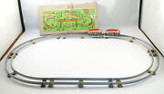 Vintage Jh Hofler Tin Toy Train Set 1940's Us-zone Germany Wind Up Train In Box