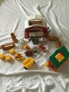 Fisher Price Little People 2002 Farm Barn Stable Entrance Horse Stable Entrance
