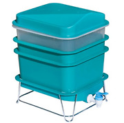 4-tray Worm Factory Farm Compost Small Compact Bin Set New 2021