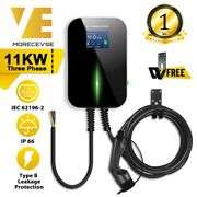 Ev Charging Station Charger Electric Vehicle Evse Wallbox With Type 2 Cable 16a