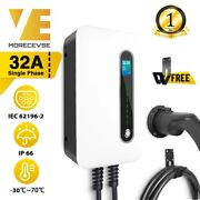 Ev Charging Station Charger Electric Vehicle 1 Phase 32a Type 2 Plug 7.2kw