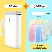Portable Printer Label Pocket Bluetooth Thermal Fast Printing Home Office