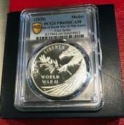 Pcgs Pr69dcam 2020 End Of World War Ii 75th Anniversary Silver Medal -fast Ship