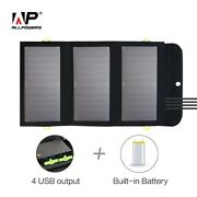 Solar Panel Kit Portable Charger 5v 21w Built-in 10000mah Rechargeable Battery