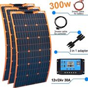 Solar Panel Kit 300w 12v Home Energy System Battery Charger With Controller Boat