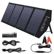 Solar Panel 80w Portable Foldable Waterproof Dual 5v/2.4a Usb Charger Power Bank