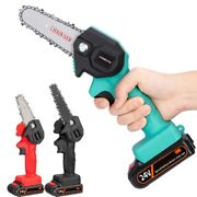 Chainsaw Mini Rechargeable Electric 4in/6in 24v Handheld Garden Eu Us Plug