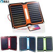 Solar Panel Kit 10w Foldable Portable Charger 5v Usb For Cellphone Powerbank
