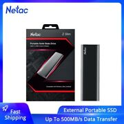Netac Usb 3.2 Type C External Ssd 1tb 500gb Portable Solid State Disk Hard Drive