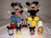 Lot Of Vintage 1970s Mickey Mouse Clubhouse Weebles And Playskool Plush Figures