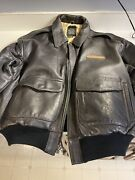 Vintage Avirex Genuine Leather Flight Bomber U.s Army Air Forces Jacket Type A-2