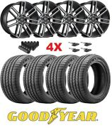 Black Milled Wheels Rims Tires 275 55 20 Goodyear F-150 Navigator Expedition