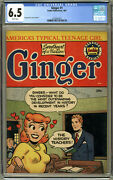 Ginger 1 Cgc 6.5 White Archie Pub 1951 Us Edition -scarce Only 1 Graded Higher