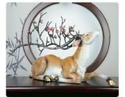 24and039and039classical Art Bronze Statue Home Furniture Decorate Wealth Fortune Sika Deer