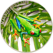 Cook Islands 2018 5 Magnificent Life Tree Frog 1 Oz Silver Coin
