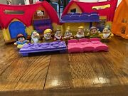Disney Little People Snow White And The Seven 7 Dwarves Cottage House