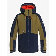 Quiksilver Forever 67.6oz Gore-tex Jacket Military Olive 2021 Snowboard New