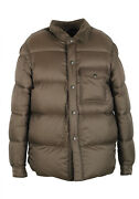 New Tom Ford Taupe Quilted Down Jacket Coat Size 50 / 40r U.s. Outerwear Jacket