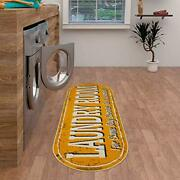 Ottomanson Laundry Mat Runner Rug Yellow 20 X 59 Assorted Sizes Colors