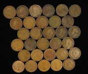 Lot Of 31 1861-1967 Victoria+george+elizabeth One Penny Lot - Free Shipping Usa