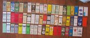 Macon, Georgia Lot Of 62 Different Matchbook Matchcovers -e