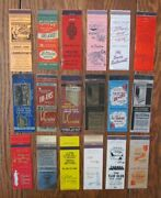 Moline, Illinois Lot Of 18 Different Matchbook Matchcovers -f