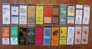 Peoria, Illinois Lot Of 22 Different Matchbook Matchcovers -f