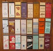 Evanston, Illinois Lot Of 24 Different Matchbook Matchcovers -f