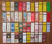 Springfield, Illinois Lot Of 47 Different Matchbook Matchcovers -f