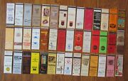 Madison, Wisconsin Lot Of 42 Matchbook Matchcovers -e
