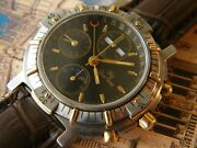 1990and039s Lucien Rochat Andlsquoroyal-air Gmtandrsquo Triple Calendar Moonphase . Valjoux 7751