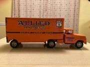 Vintage Allied Tractor-trailer With Patina Made By Tonka Toys Mound Metalcraft I