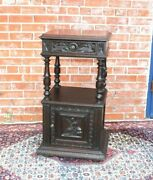 French Antique Oak Brittany Nightstand /side Table