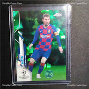 2019 Topps Chrome Uefa Cl Sapphire Green Lionel Messi /75 Ships From Us