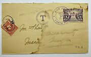 1939 San Juan Costa Rica Cover To Macon Georgia With Postage Due 2 Cents