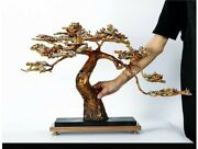 30and039and039 Classical Bronze Crafts Home Decorate Statue The Pine Greeting Guests