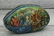 Exclusive Russian Lacquer Box Fedoskino Art Painting School Fairy Tale Handmade