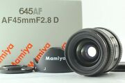 Rare [almost Unused] Mamiya 645 Af 45mm F/2.8 D Lens For Phase One Afd Ii Iii