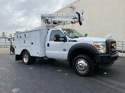 2015 Ford F550 4x4 Bucket Truck Boom Truck Altec At37g Utility Diesel Articulate