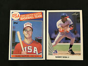 Mark Mcgwire 1985 Topps Rookie And Sammy Sosa 1990 Leaf Rc Hr Chase Baseball Cards