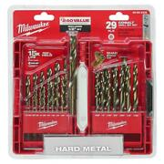 Helix Drill Bit Set For Drill Drivers Cobalt Red Power Tool Durable 29-piece