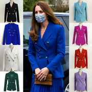 Kate Middleton Cobalt Bue Tailored Blazer Double Breasted Various Colour Jacket
