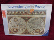 Ravensburger 3000 Pieces Jigsaw Puzzle World Map 1665 Hard To Find