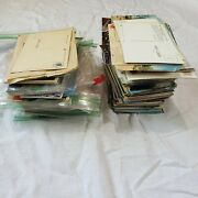 Large Lot Vintage Mixed Postcards 5 Lbs Us Canada Cancellation Christmas Comic