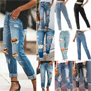 Women Jeans Denim Ripped Pants Ladies Jeggings Stretch Joggers Casual Trousers