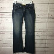 Bke Buckle Womens Starlite Flare Blue Jeans Flare Low Rise Size 27