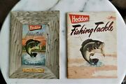Lot Of Two 2 1952 Heddon Deluxe Catalog And 1954 Heddon Deluxe Catalog