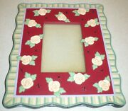 2000 Mary Engelbreit Picture Photo Frame Flower Floral Rose Rose